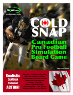 COLD SNAP Canadian Pro Football Game