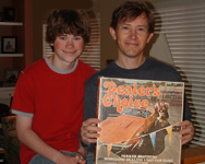 Me and my son Sam, holding Dealer's Choice!